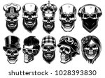set of different skulls. shirt... | Shutterstock .eps vector #1028393830