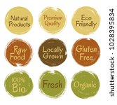 fresh raw food  eco friendly... | Shutterstock .eps vector #1028395834