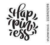 hand drawn happiness hand... | Shutterstock .eps vector #1028405098