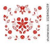 polish folk pattern vector....   Shutterstock .eps vector #1028406259