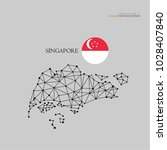 outline map of  singapore  with ... | Shutterstock .eps vector #1028407840