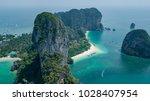 railay beach in krabi  aerial... | Shutterstock . vector #1028407954