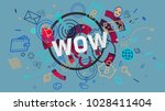 word wow as a part of... | Shutterstock . vector #1028411404