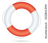 Life Ring Icon Isolated On...