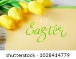 happy easter. congratulatory...   Shutterstock . vector #1028414779