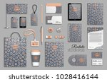 corporate identity template set.... | Shutterstock .eps vector #1028416144