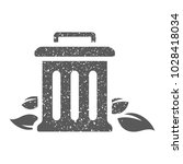 trash bin icon in grunge... | Shutterstock .eps vector #1028418034
