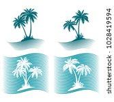 pictograms  exotic landscape... | Shutterstock .eps vector #1028419594