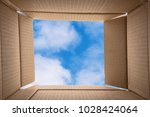 thinking outside the box.... | Shutterstock . vector #1028424064