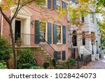 detail of an old brick house... | Shutterstock . vector #1028424073