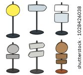 vector set of direction post | Shutterstock .eps vector #1028426038