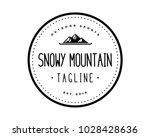 mountain with skateboard symbol ... | Shutterstock .eps vector #1028428636