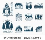 camping badges  mountains... | Shutterstock .eps vector #1028432959