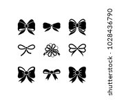 vector flat bow icon set....