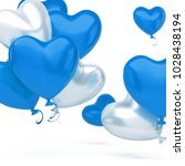 blue and white baloons in the... | Shutterstock . vector #1028438194