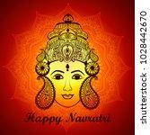 creative mandala frame based on ... | Shutterstock .eps vector #1028442670