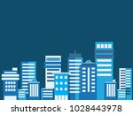 buildings flat style  cityscape ... | Shutterstock .eps vector #1028443978