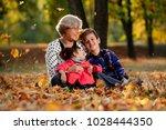 grandmother granddaughter and... | Shutterstock . vector #1028444350
