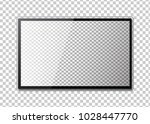 frame of tv. empty led monitor... | Shutterstock .eps vector #1028447770