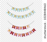 happy birthday flags for boys... | Shutterstock .eps vector #1028448463