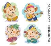 vector cartoon illustration of... | Shutterstock .eps vector #1028449780