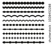 set of vector borders art... | Shutterstock .eps vector #1028452288