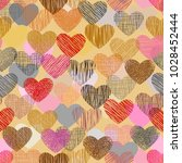 color doodle in heart shape...   Shutterstock .eps vector #1028452444