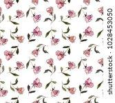 seamless floral pattern.... | Shutterstock . vector #1028453050