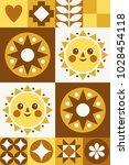 geometric abstract folk card....   Shutterstock .eps vector #1028454118