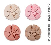 set of crumbled cosmetic... | Shutterstock . vector #1028454640