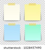 paper sheet on translucent... | Shutterstock .eps vector #1028457490