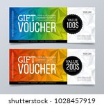 gift voucher template design... | Shutterstock .eps vector #1028457919