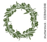 vector illustration with olive... | Shutterstock .eps vector #1028464348