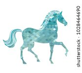 mosaic horse. abstract... | Shutterstock .eps vector #1028464690