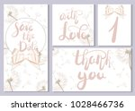 a set of wedding cards and... | Shutterstock .eps vector #1028466736