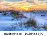 a colorful sunset over the... | Shutterstock . vector #1028466940