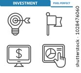 investment icons. professional  ... | Shutterstock .eps vector #1028476060