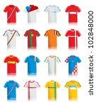 soccer jersey set eps10 | Shutterstock .eps vector #102848000
