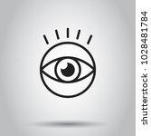 simple eye icon. vector... | Shutterstock .eps vector #1028481784