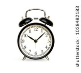 front of black alarm clock... | Shutterstock . vector #1028482183