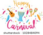 carnival lettering with party... | Shutterstock .eps vector #1028484094