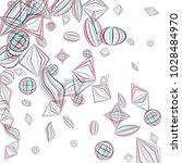 falling geometric figures.... | Shutterstock .eps vector #1028484970