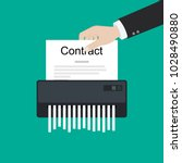 contract failure agreement... | Shutterstock .eps vector #1028490880