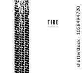 tire track impression. black... | Shutterstock .eps vector #1028494720