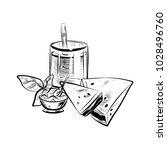 sketch illustration of glass...   Shutterstock .eps vector #1028496760