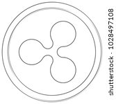 ripple   cryptocurrency coin.... | Shutterstock .eps vector #1028497108