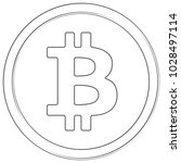bitcoin   cryptocurrency coin.... | Shutterstock .eps vector #1028497114
