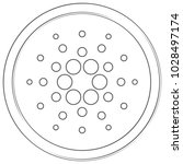 cardano   cryptocurrency coin.... | Shutterstock .eps vector #1028497174