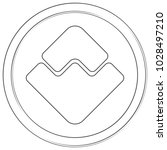 waves   cryptocurrency coin.... | Shutterstock .eps vector #1028497210
