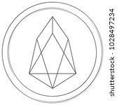 eos   cryptocurrency coin.... | Shutterstock .eps vector #1028497234